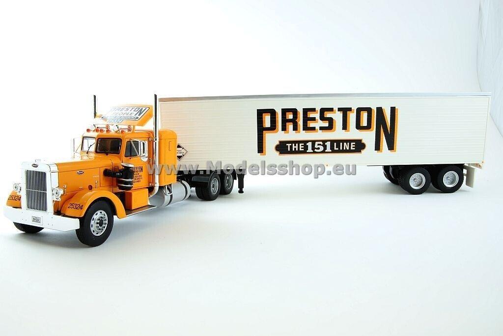 Peterbilt 350, Preston People, 1952  Orange-blanc