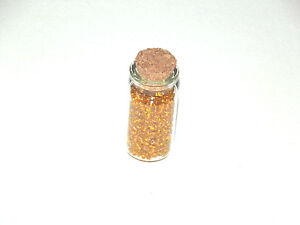 Jewellery-Making-Seed-Beads-30g-Bright-Yellow-seed-beads-small-glass-bottle-New