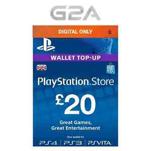 playstation network 20 card psn 20 gbp uk store key ps4 ps3 psp 20 pounds. Black Bedroom Furniture Sets. Home Design Ideas