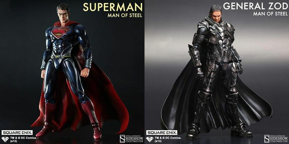 Man of Steel Superman & General Zod Play Arts Kai Set of 2 Square Enix