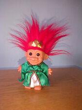 "Vintage RUSS Troll KING JAPANESE GREEN KIMONO Retro Rare 6"" GIFT / PRESENT"