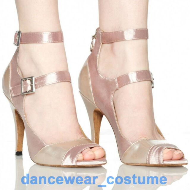 New Adult Women's Satin Ballroom Latin Dance Salsa Shoes 10cm heeled Shoe US5-9
