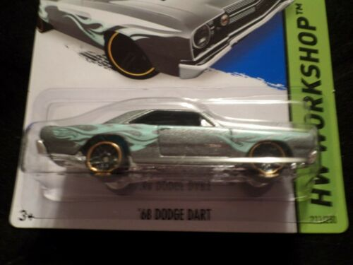 HW HOT WHEELS 2014 HW WORKSHOP #211//250 /'68 DODGE DART HOTWHEELS SILVER MOPAR