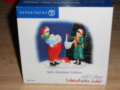 DEPT 56 SNOW VILLAGE Christmas Lane DAD/'S CHRISTMAS TRADITION  NIB