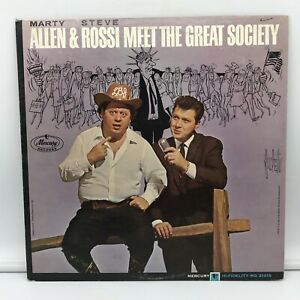 Marty Allen & Steve Rossi - Meet The Great Society LP NM Vinyl Record MG-21015
