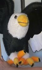 """Lg Black, White & Gold Plush """"Flying"""" Hanging Bald Eagle by Classic Toy Co. NEW"""