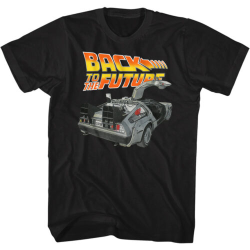 Back To The Future T Shirt Mens New ORIGINAL in 100/% Black Cotton Sizes SM 5XL
