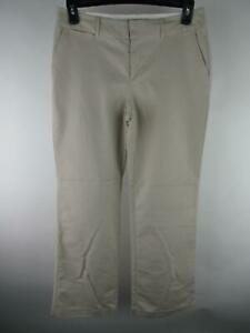 Banana-Republic-Women-039-s-sz-8-Tan-Cotton-Blend-Jackson-Fit-Khaki-Bootcut-Pants