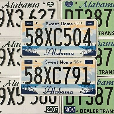 Alabama Sweet Home Flat x 1 Used Condition USA American License Number Plate