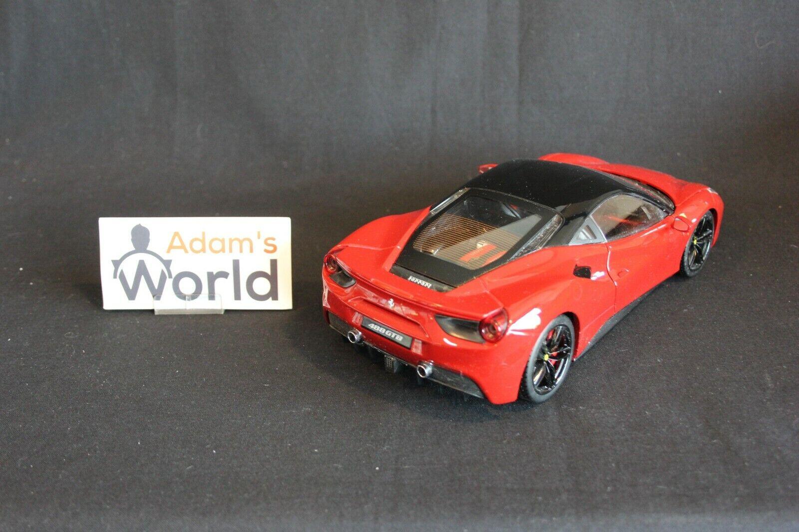 Bburago Ferrari 488 GTB 1 1 1 18 red (PJBB) 7458e3