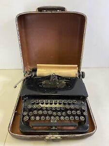 Vintage LC Smith & Corona Standard Typewriter USA Made Black w/ Case