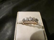 Beautiful Art Deco 18ct Gold, Plat & 0.50ct Five Stone Diamond Ring