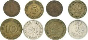 Germany 1 Set Bank Dt.länder- 1949 J 1,5, 10,50 Pfennig Ss