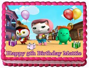 Details About Sheriff Callie Edible Cake Topper Birthday Decorations