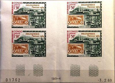 Kongo Brazzaville 1969 172 U C77 4x Philexafrique Hafen Harbour Pointe Noire Mnh