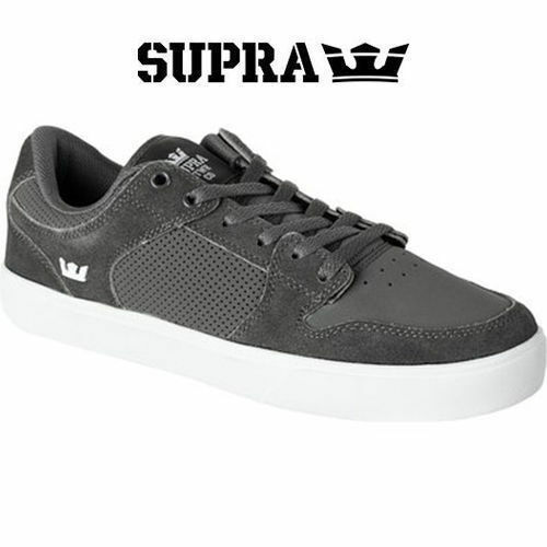 Supra Vaider LC S  S board shoes Boot Sneaker  Grey Grey Leather 8 NWB RT  outlet store