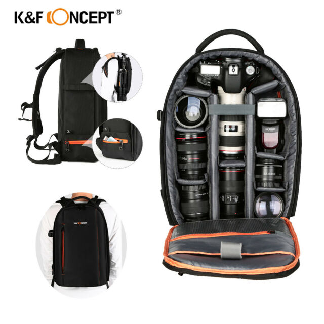 3ab98b1ea3 K F Concept Camera Backpack Bag Waterproof Large Capacity for Nikon Canon  DSLR