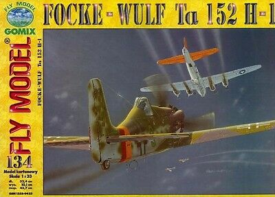 134 Gomix FLY Modell Nr Tiefzieh Kanzel für  FOCKE WULF Ta152 1:33