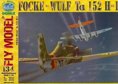 Gomix FLY 134 deutsches Jagdflugzeug Focke Wulf Ta-152  Propellerflugzeug  1:33