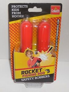 Goliath Rocket Fishing Rod Safety Bobbers KIds New 31701