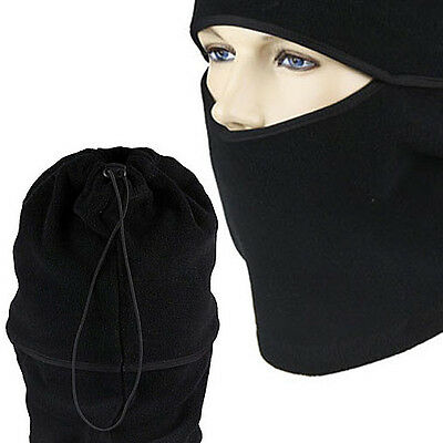 New Winter Sports Warm Headgear Outdoor Cycling Scarf Hat Tactical CS Mask Black