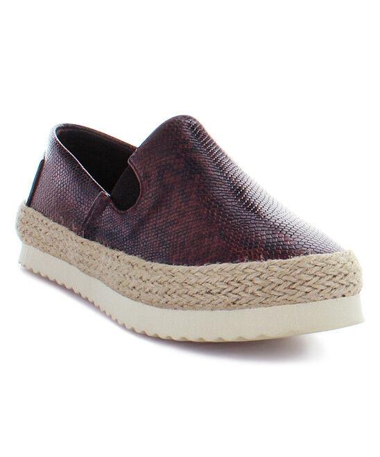 Electric Karma Women's Lola Chocolate Slip-On Espadrille shoes Size 7 Medium