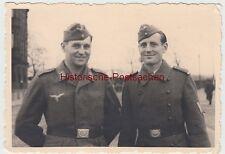 (F11168) Orig. Foto Luftwaffe-Soldat Franz m. Bruder Willi Bager 1944