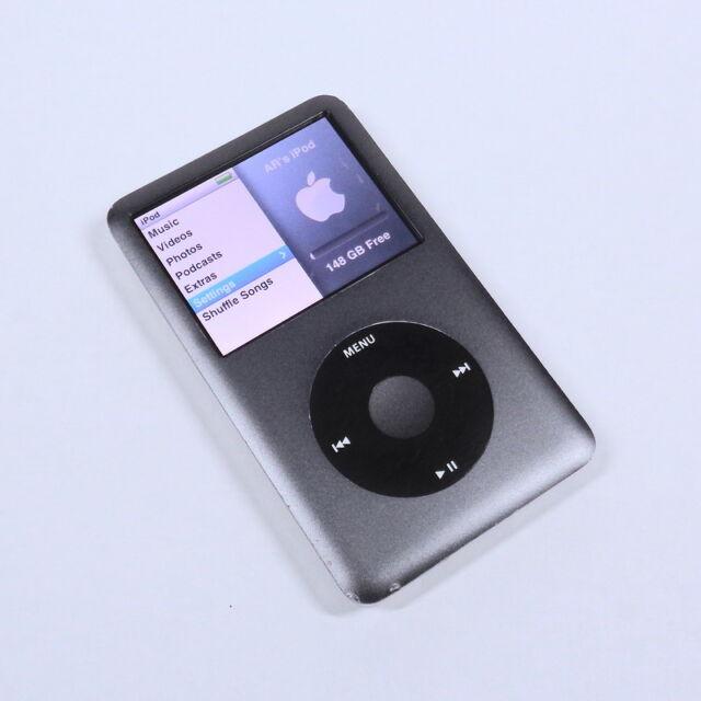 Apple iPod Classic Grey Black 160GB 7th Gen Generation Slim MP3 WARRANTY