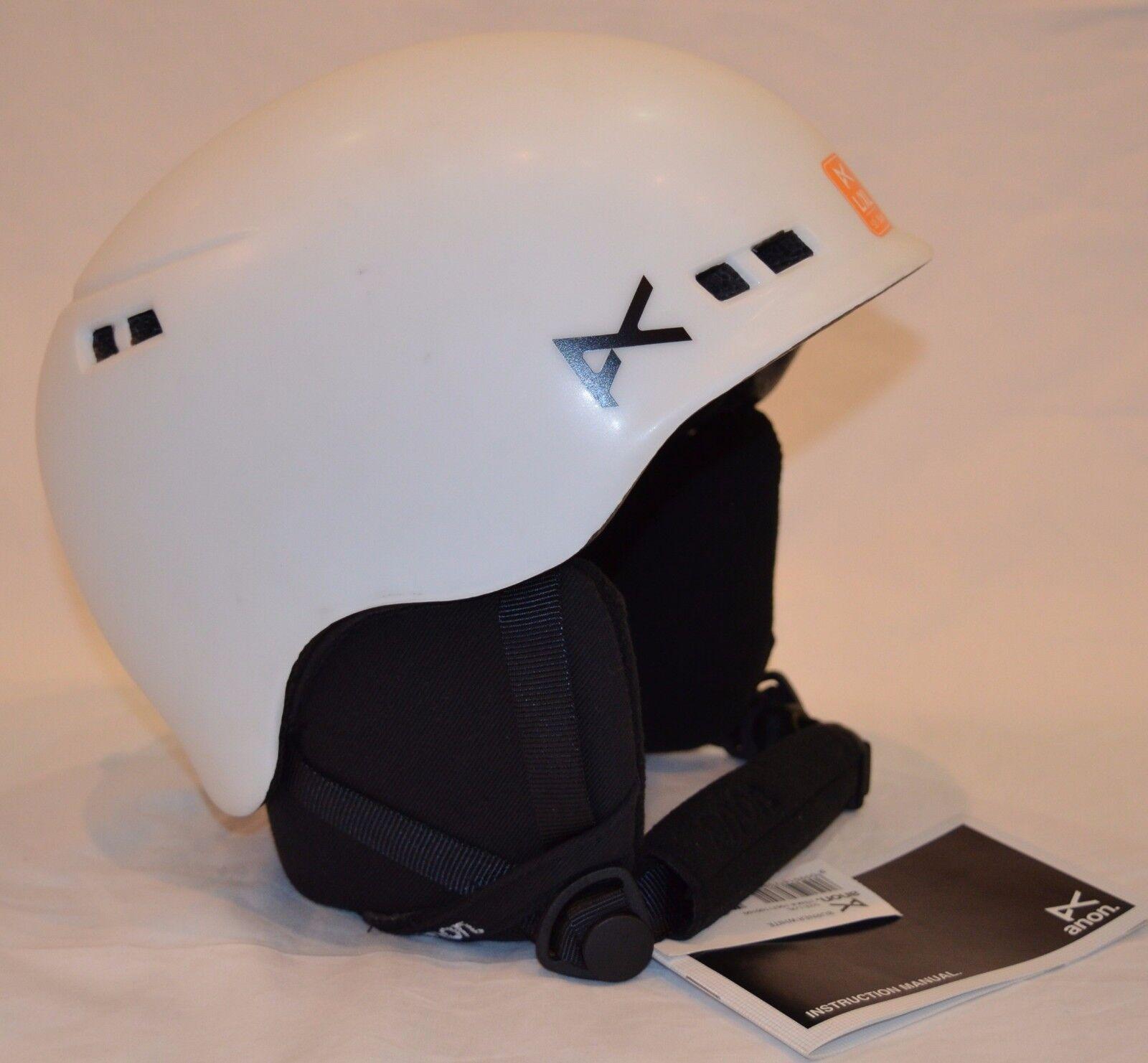 Youth Unisex Burton ANON Burner Helmet Ski Snowboard Helmet - WHITE Size L XL
