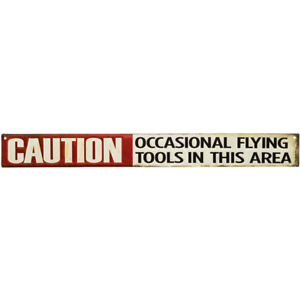 Vintage Style Flying Tools Metal Sign Man Cave Garage Retro Decor