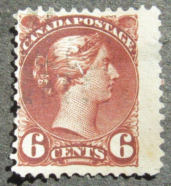 Canada 1872 6C Queen Victoria dunkel red-brown, Mi #30bA used
