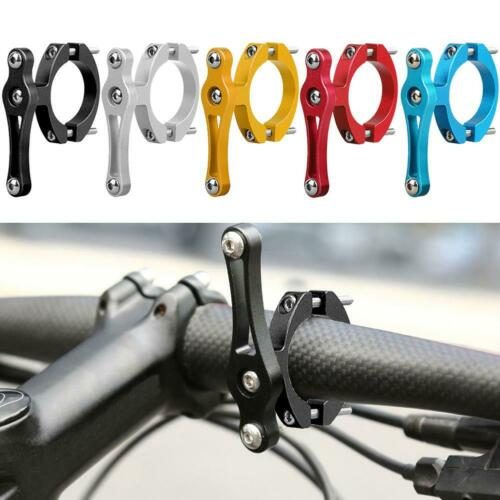 Bike Water Bottle Holder Adapter Double Screws MTB Handlebar Cup Rack Clip