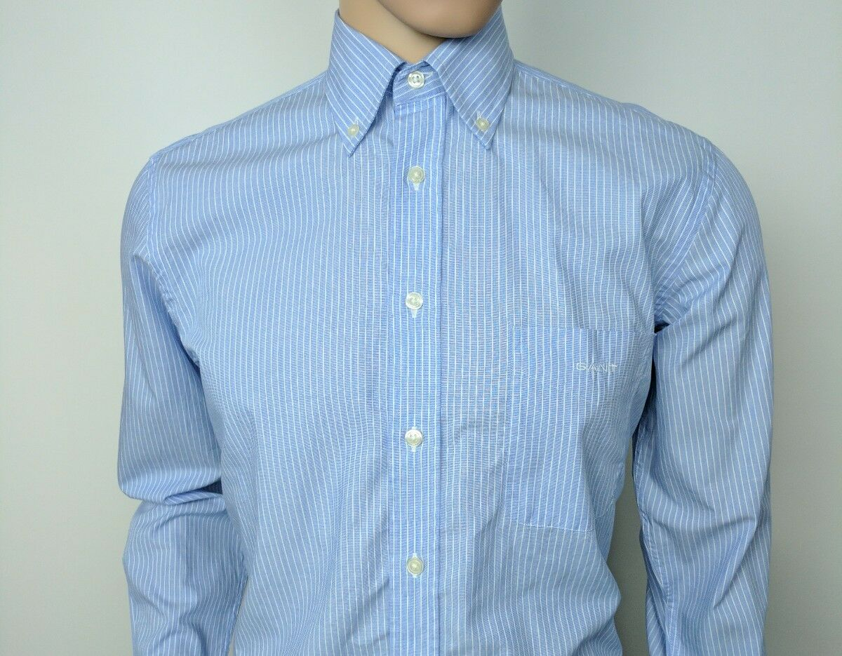 New Gant Mens Shirt Regular Fit Avenue Fil A Fil Oxford Size S Chest 38