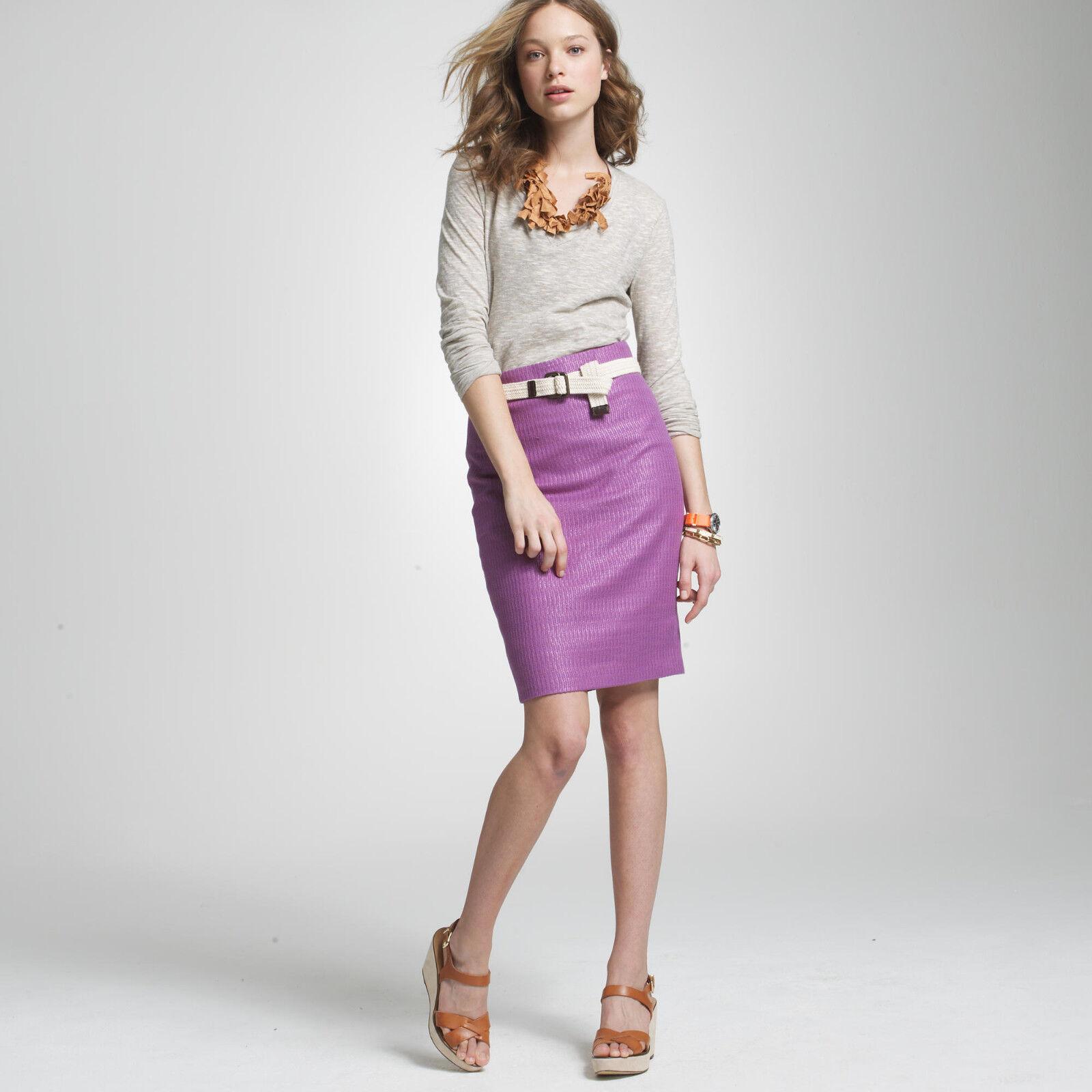 NWT J.Crew Cotten-blend 'Unagi Tweed Pencil Skirt' 8