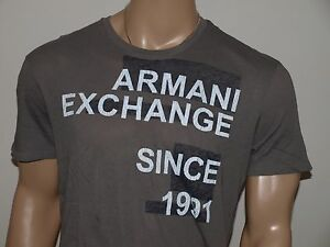 e9e6fa131aa Image is loading Armani-Exchange-Authentic-AX-Logo-T-Shirt-Pewter-
