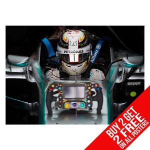 Lewis Hamilton Mercedes F1 Car Helmet Art Print Photo Picture Poster A3 A4