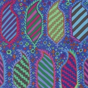 Free-Spirit-Kaffe-Fassett-Striped-Herald-Cotton-Fabric-PWGP153-Blue-BTY