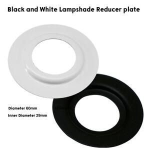 PLACCA-di-Metallo-Riduttore-Adattatore-2-X-nero-bianco-paralume-per-lavatrice-Anello-UK-STOCK