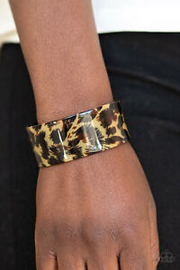 Paparazzi-Jewelry-Bracelet-Wheres-The-Party-Brown-NWT-4439