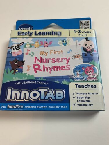 VTech InnoTab Software, My First Nursery Rhymes for Ages 1-3, Pre-K, NEW