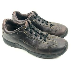 mephisto slacker mens 9 us brown leather walking lace up