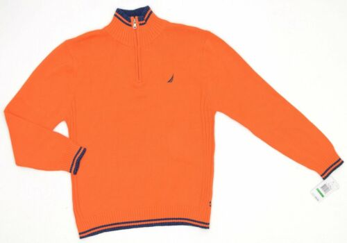 Nautica Long Sleeve 1//4 Zip Cotton Sweater Boys NEW 7162