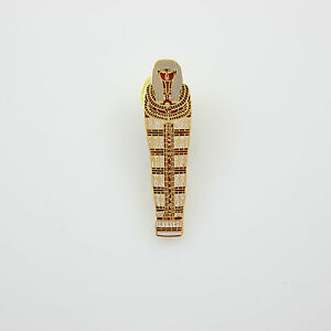 Vintage ACME Studio Egyptian Sarcophagus Pin For Brooklyn Museum of Art NEW