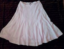 J Jill Pink Linen Full Panel Skirt XL