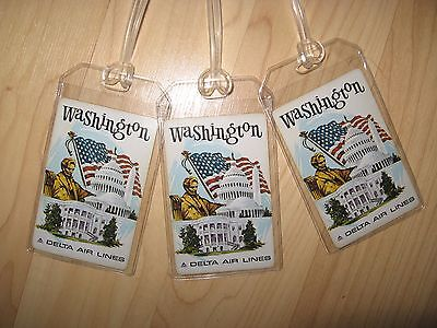 Delta Airlines Washington DC Luggage Tags - Vintage DL Playing Card Name Tag (3)