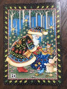 Mary Engelbreit-LET INNOCENCE /& JOY PREVAIL-Christmas Santa Claus Toys Card-NEW!