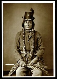 902-Postcard-LONG-SOLDIER-Hunkpapa-Chief-1874-Photo-by-O-S-Goff-NEW-Born