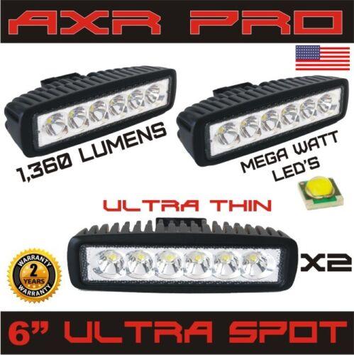 2pcs 18W LED Work Light Bar Spot Beam Offroad Jeep Boat Car Fog 4WD Driving Lamp