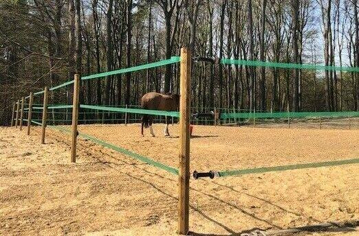 91m valla electrificada construcción PVC koppelzaun pradera valla de caballos estacas de valla