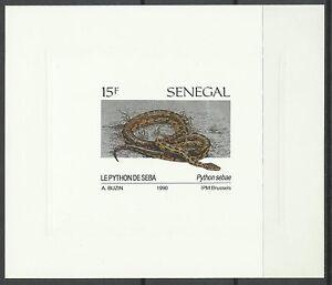Senegal-Reptiles-Serpents-Python-de-Seba-Snakes-Epreuve-Imperf-Die-Proof-1991